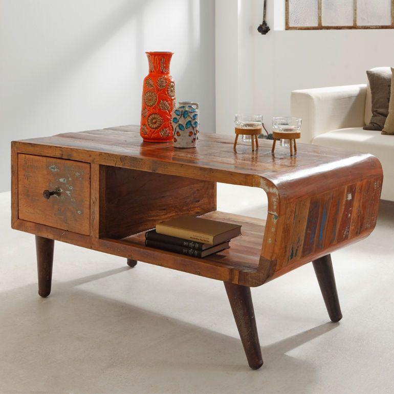 B Ware Möbel : couchtisch beistelltisch himalaya retro altholz unikat ~ Watch28wear.com Haus und Dekorationen