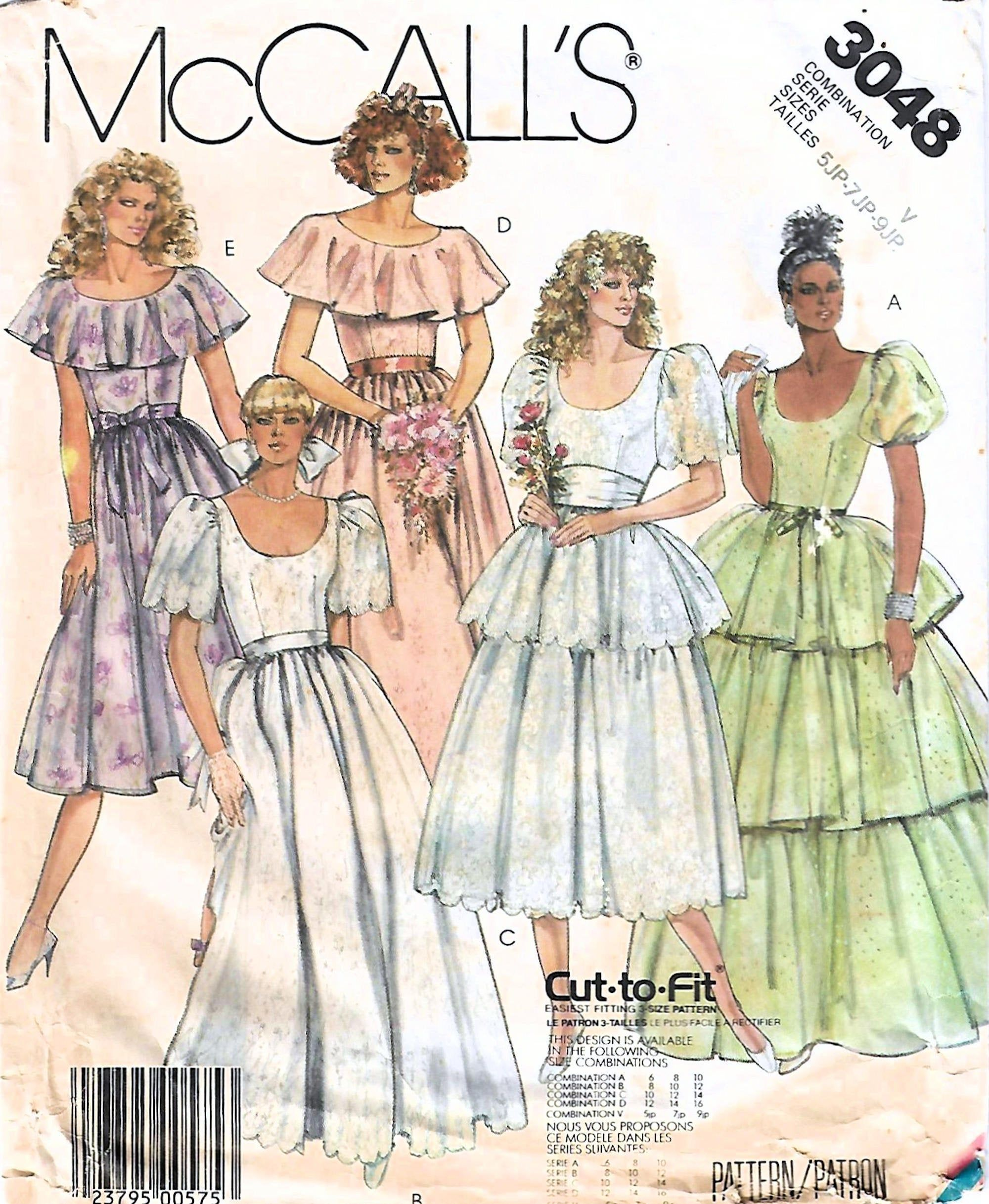 1980s Mccall S 3048 Vintage Sewing Pattern Junior Petite Etsy Petite Formal Dresses Skirt Patterns Sewing 1980 Dress Patterns [ 2434 x 2000 Pixel ]