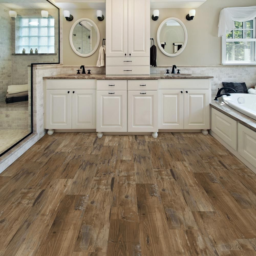 Hickory Shaker Style Kitchen Cabinets Turquoise Rugs Lifeproof Take Home Sample - Heirloom Pine Luxury Vinyl ...