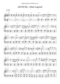All Of Me John Legend Popular Piano Sheet Music Piano Sheet