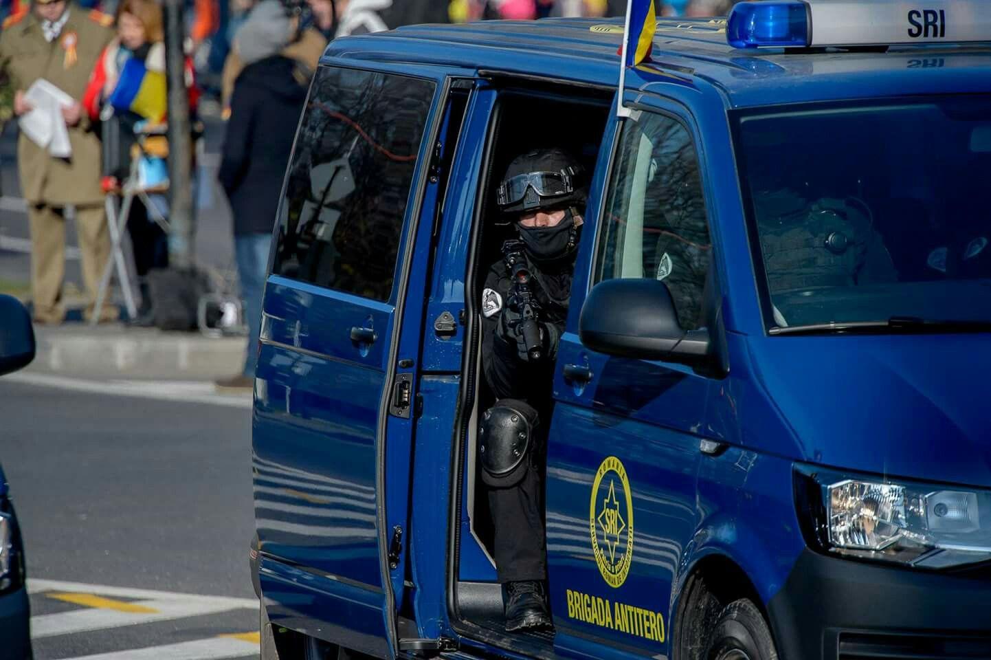 S.R.I. _B.A.T. Serviciul Roman de Informatii_ Brigada Antiterorista Romanian Intelligence Service_ Anti-terrorist Brigade 1st December 2016 Unification parade