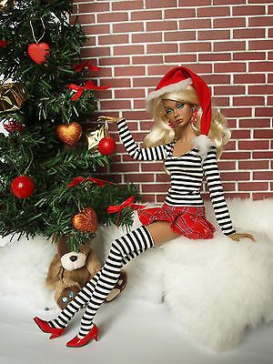 Christmas outfit for Poppy Parker, Fashion Royalty by Olgaomi ......and this one?