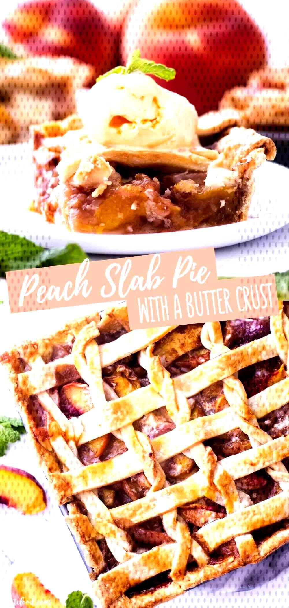 Easy Peach Slab Pie - Desserts Bread Puddings, Cobblers, Custards, Cookies, Pies, etc.! -