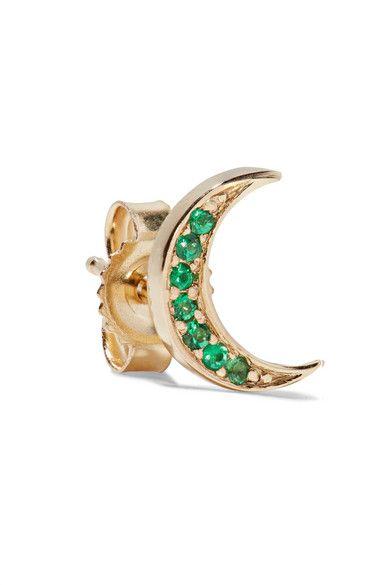 Crescent Emerald Earrings Andrea Fohrman OroXlpoyy