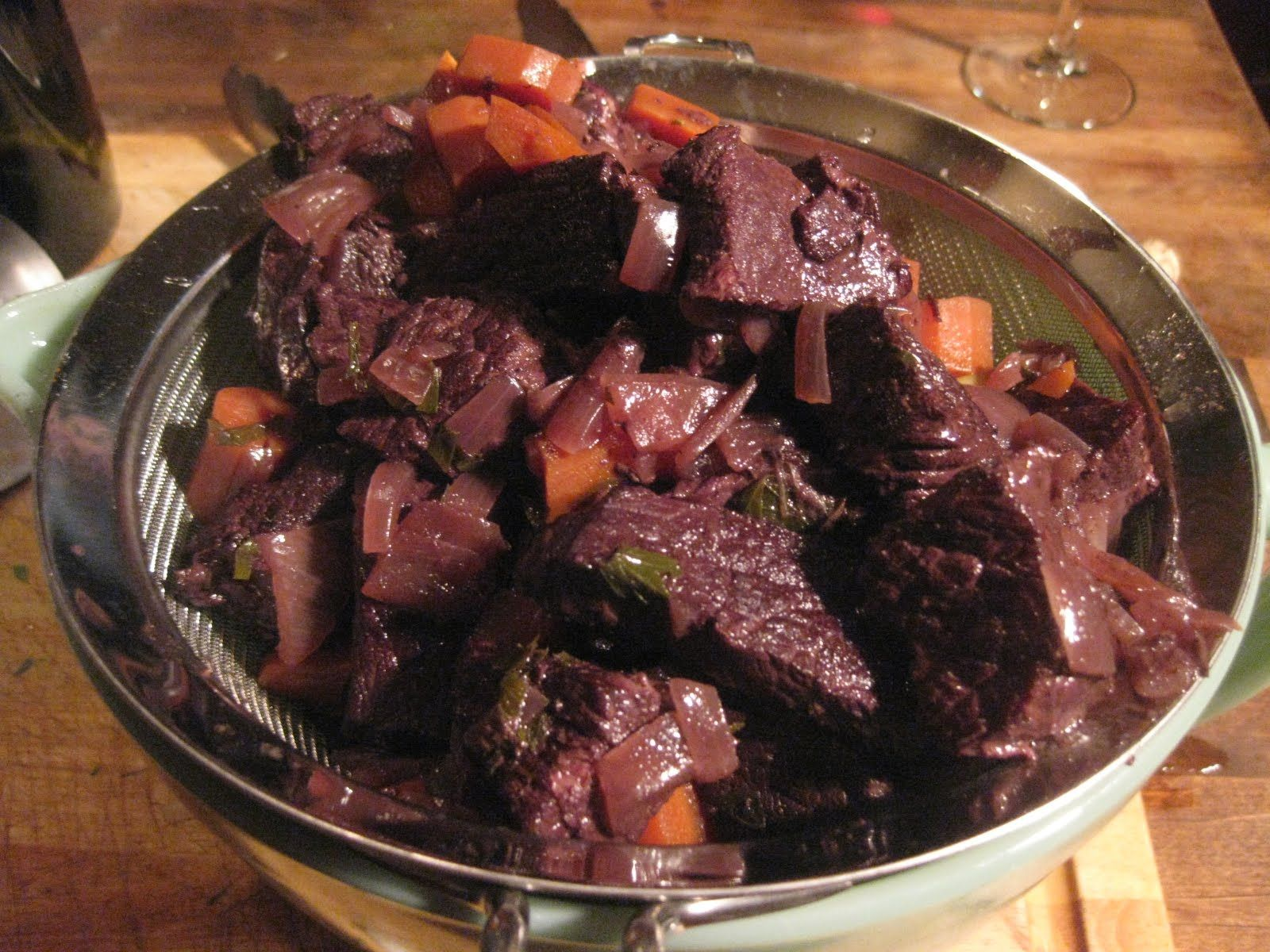 Bacchanalian Beef Stew After Using Some Of The Red Wine In The Stew Pour The Remainder Into A Glass And Enjoy It While The Stew Is Beef Recipes Recipes Beef
