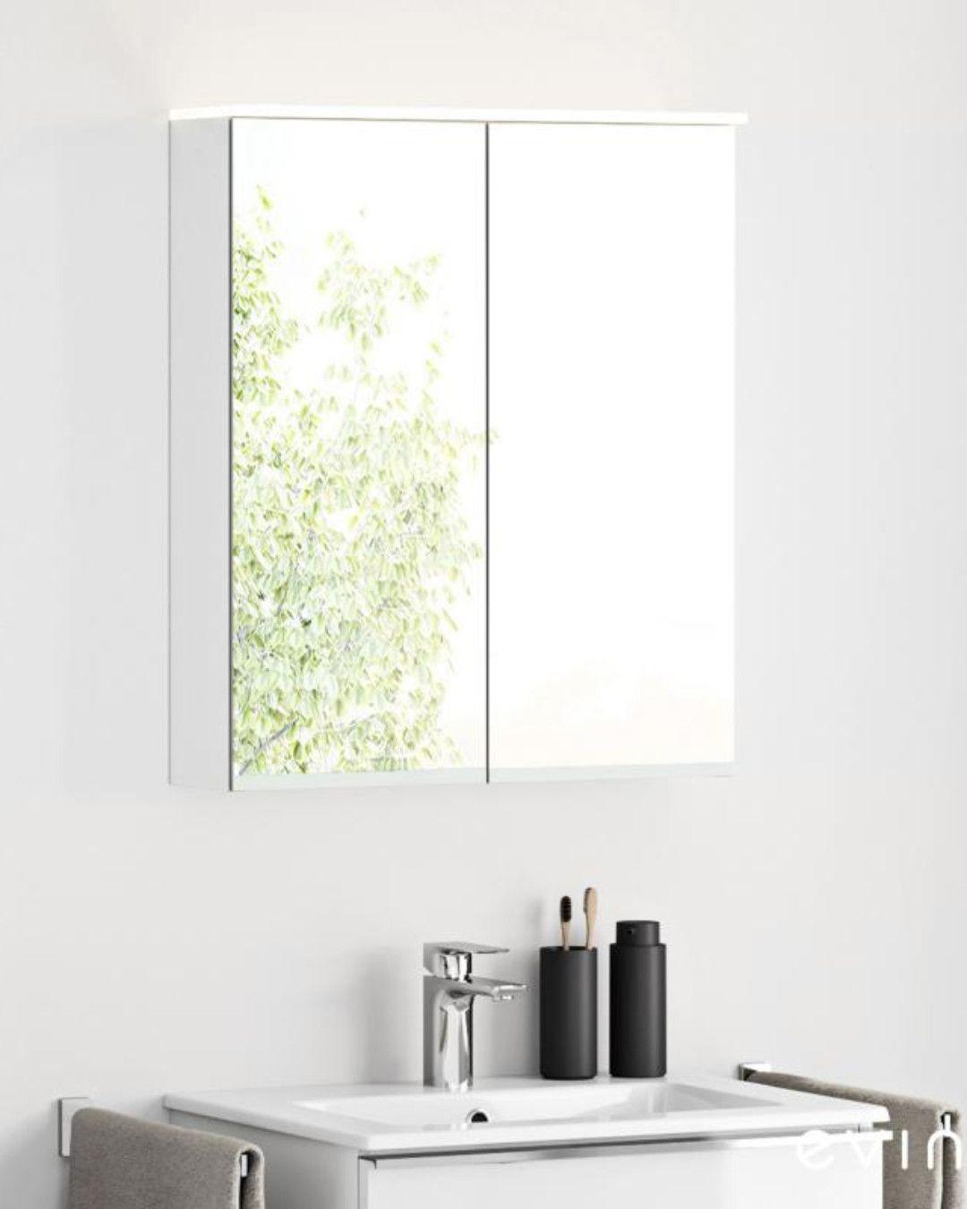 Evineo Ineo Spiegelschrank Mit Integrierter Led Beleuchtung Mit 2 Turen Bea001mi In 2020 Led Beleuchtung Spiegelschrank Led
