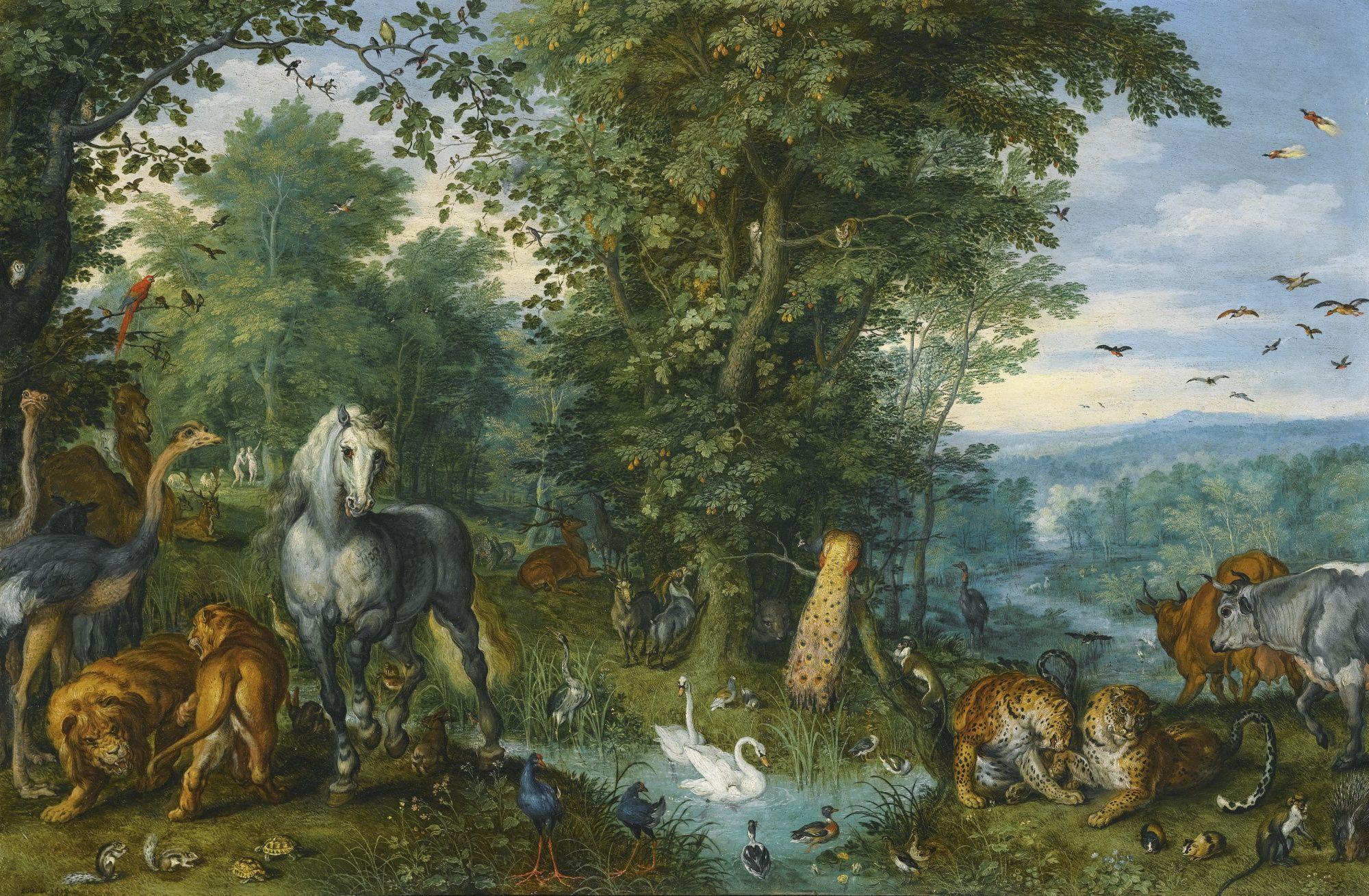 Jan Brueghel the Elder Le jardin d'Eden avant la chute ...