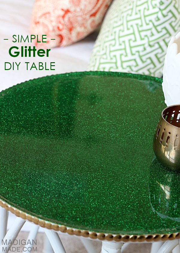diy glitter furniture. DIY Simple Glitter Covered Table Makeover Diy Furniture