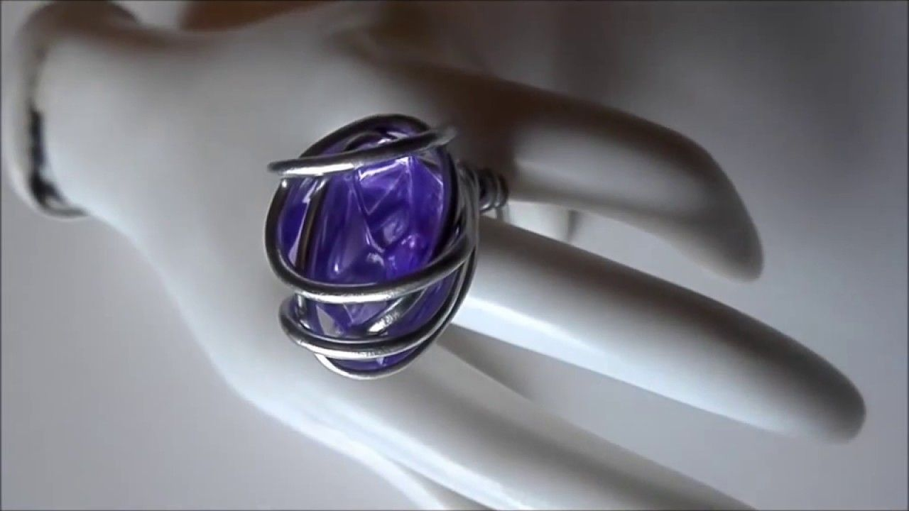 Howto: DIY: Aluminum Wire Ring (easy to make wrapped wire stone ...