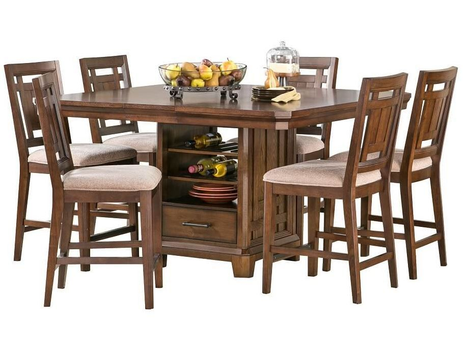 Dining table with strategic storage.