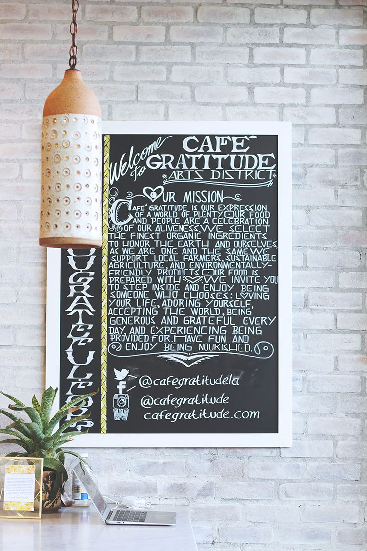 Cafe Gratitude is a collection of 100% organic plant-based restaurants specializing in gourmet cuisines. Most of the menu items are raw! The signature desserts, chocolate, cookies, and housemade ice cream and shakes are worth the indulgence! The pressed juices are also the perfect accompaniment to any breakfast or lunch. Read more at The Allergy Free Wife.