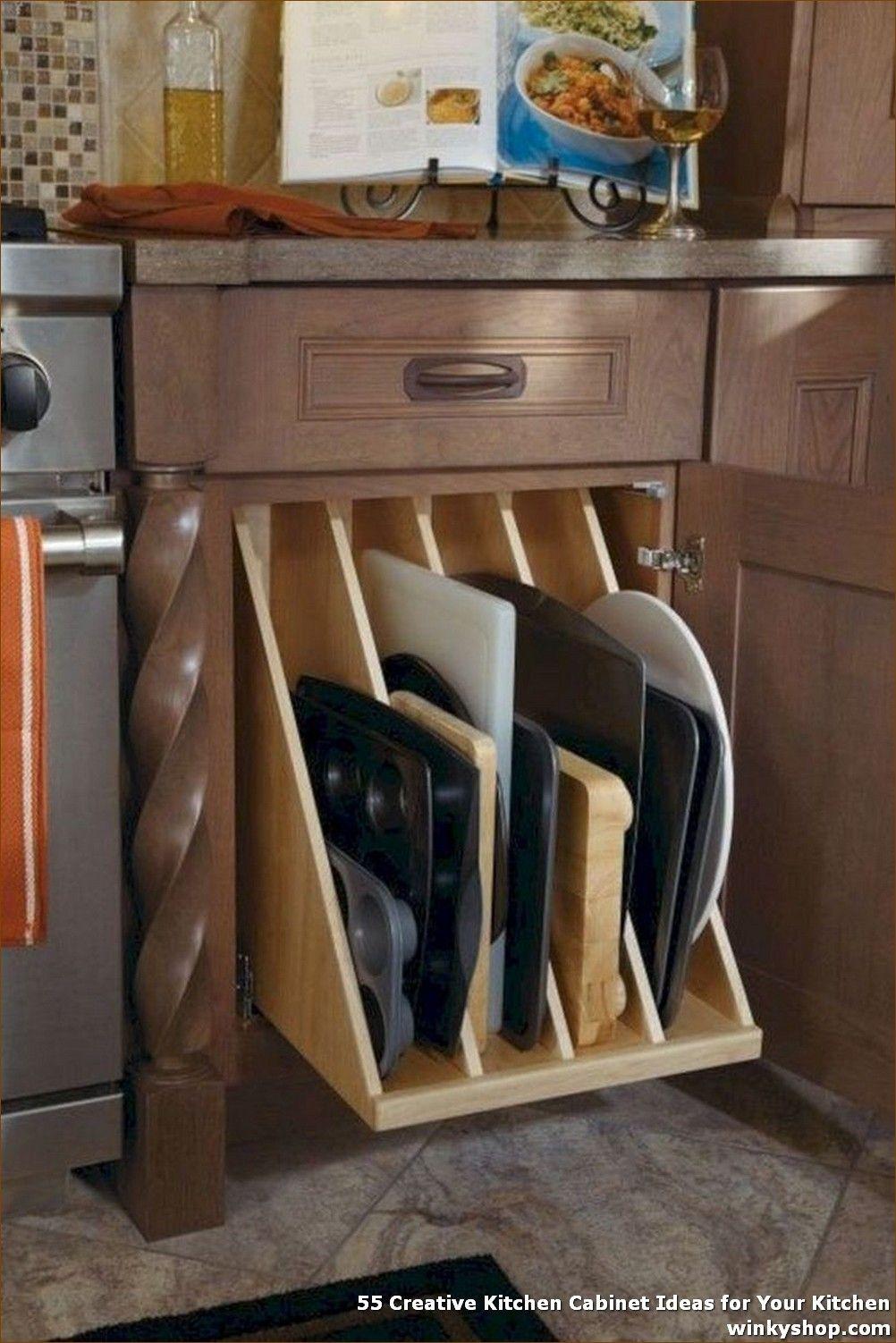 55 Creative Kitchen Cabinet Ideas For Your Kitchen Kitchen Design Diy Kitchen Storage Organization Traditional Kitchen Cabinets