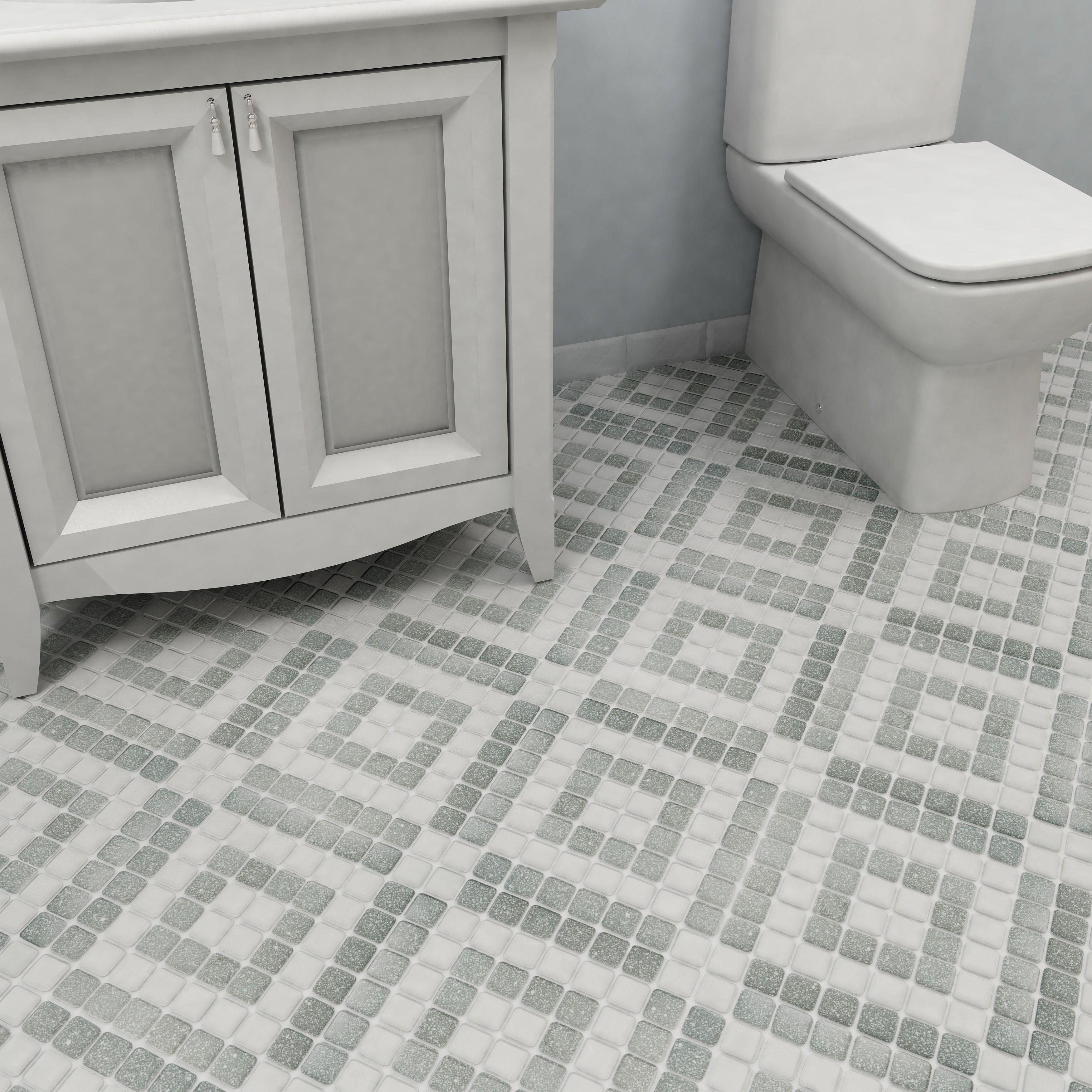 SomerTile 11.75x11.75inch Scholar Bazaar Grey Porcelain