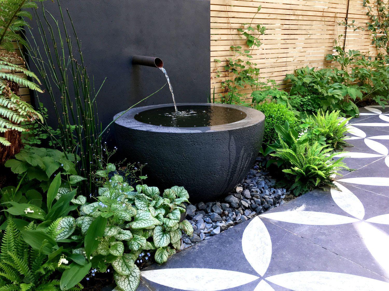 Primrose Hill Garden Design Cat Howard Water Features In The Garden Garden Design Layout Garden Fountains
