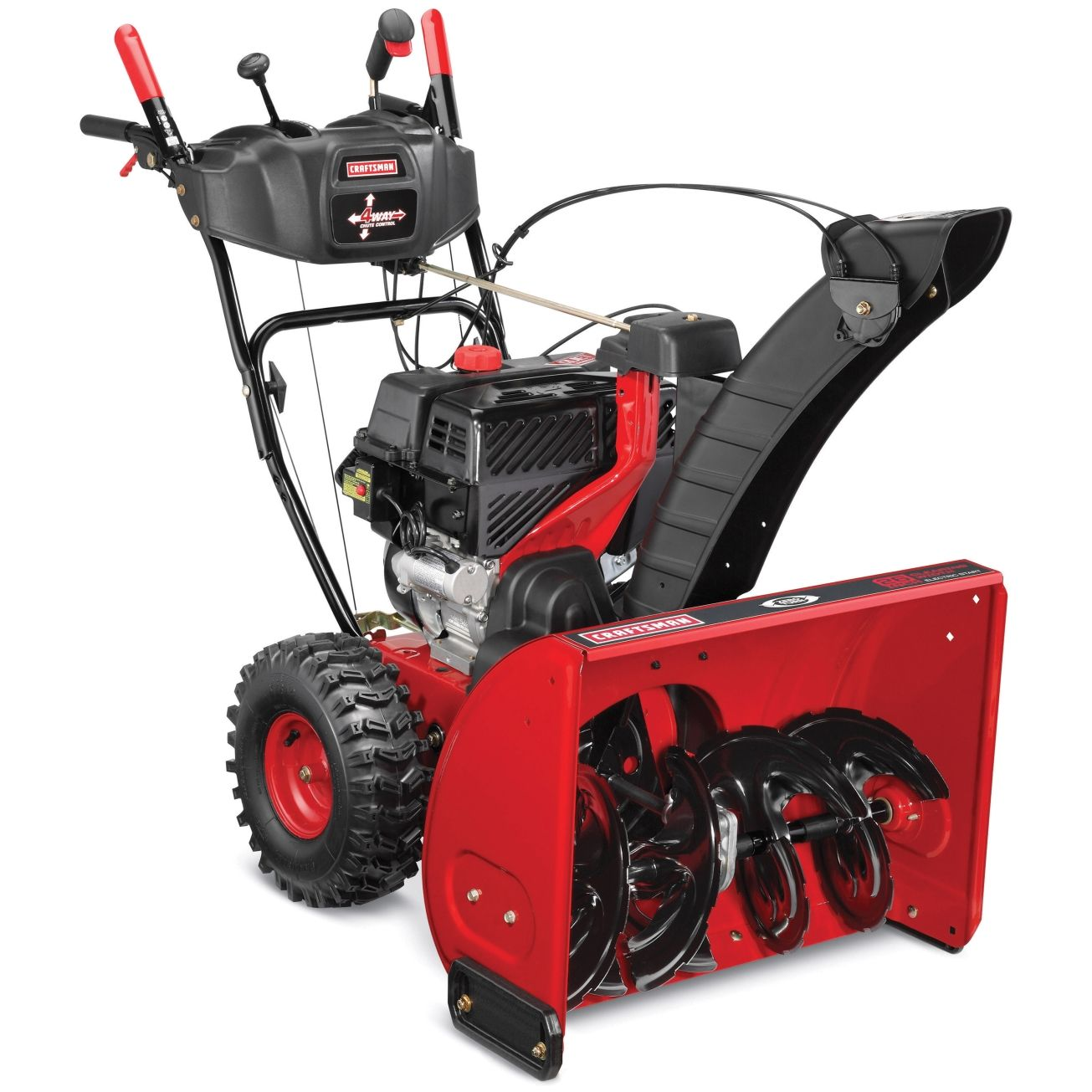 Craftsman Quiet 26 In 208 Cc Two Stage Electric Start Gas Snow Thrower Gas Snow Blower Snow Blower Blowers