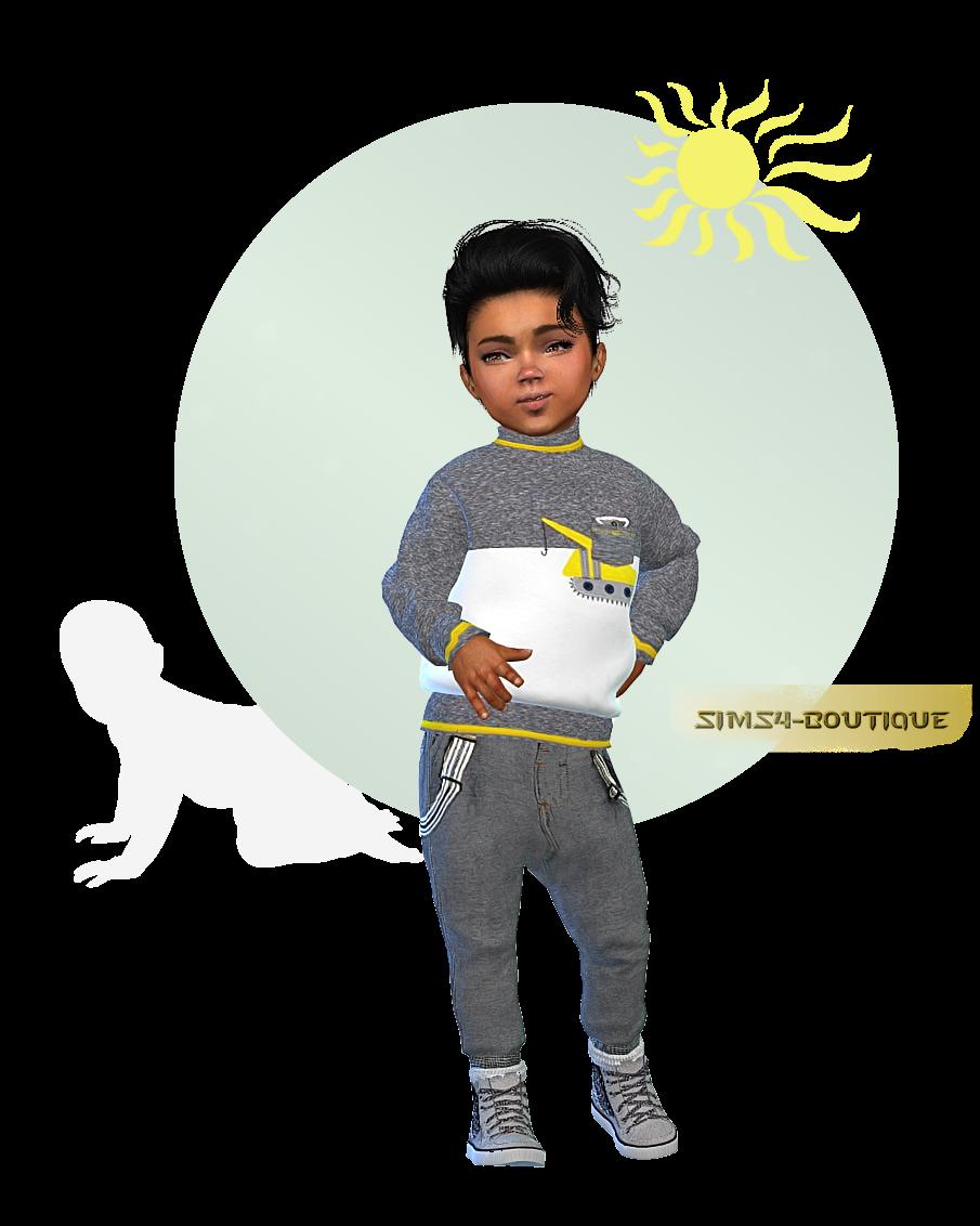 b8d98b787 ☆ © Sims4-Boutique ♔: ☆ Designer Set for Toddler Boys TS4 ☆   sims