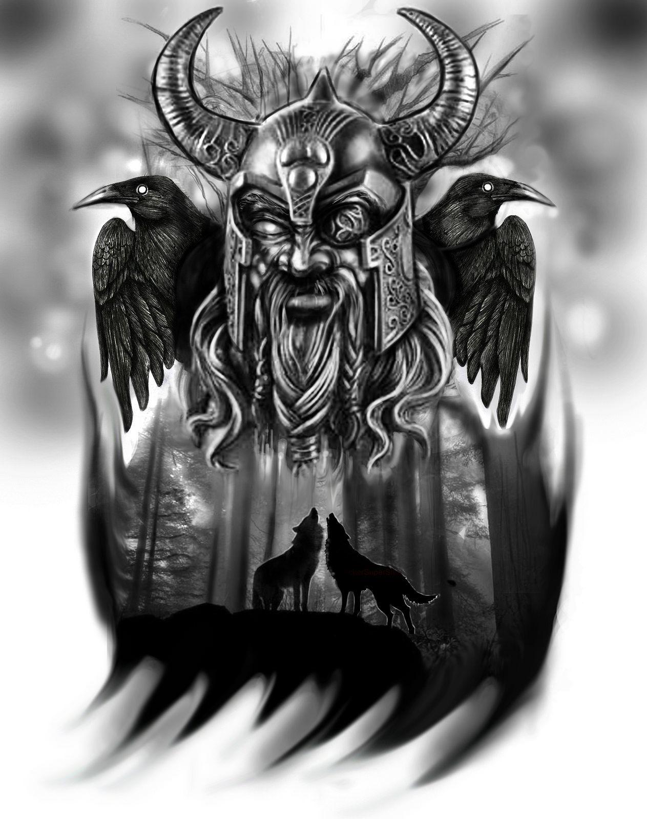 Odin Tattoo Idea татуировки эскизы викинг татуировки идеи для