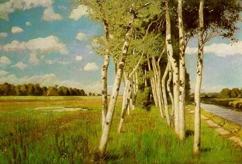 Hans am Ende, Ein Sommertag in Worpswede (Summer day in Worpswede), 1901. Oil on canvas, 135 x 200 cm.