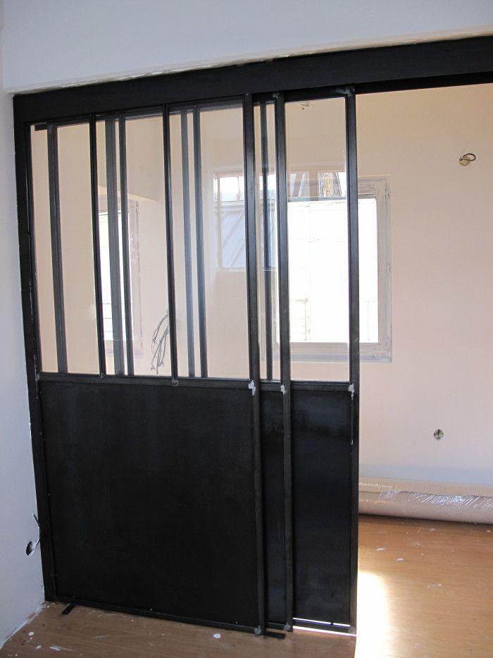 Porte Coulissante Separation séparation vitrée avec porte coulissante | open kitchen | pinterest