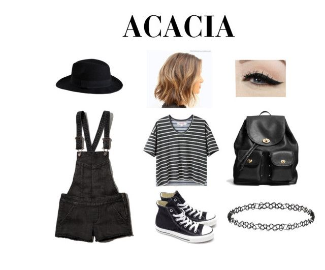 """""""Acacia Brinley Clark Outfit"""" by zoebug664 on Polyvore featuring Pieces, Abercrombie & Fitch, Organic by John Patrick, Converse, Anatomy Of, Coach, Dorothy Perkins, women's clothing, women and female"""
