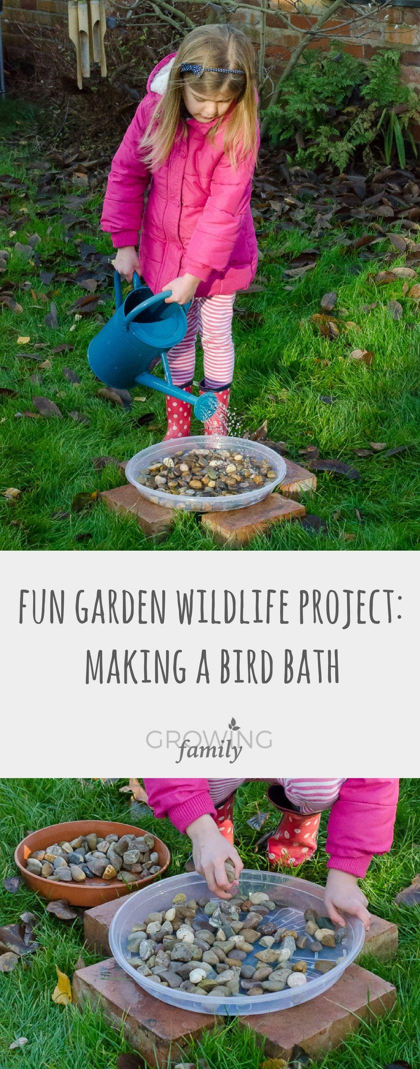 Giving nature a home in our garden: making a bird bath | Gardens ...