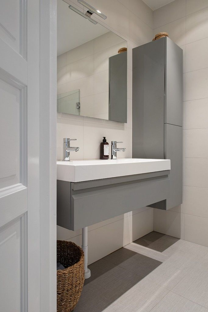 Ba o blanco y gris 01 living room pinterest ba os - Banos grises modernos ...