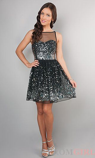 Waltz in a Name Black Sequin Dress | Black sequin dress, Shoulder ...