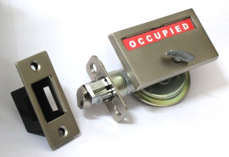 Bathroom Pocket Door Privacy Indicator Lock Comes With An