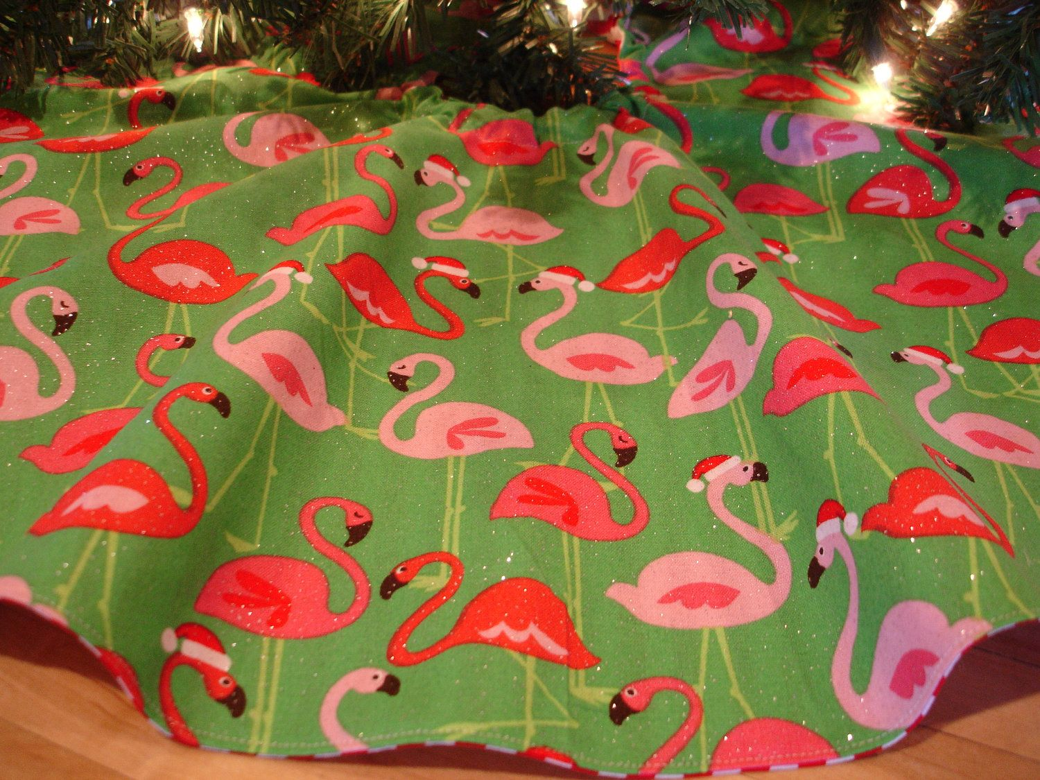 Flamingo Christmas Tree Skirt,