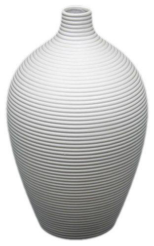 Amazon.com - UTC 20100 White Ceramic Vase with Matte