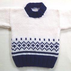 Suéter de bebé De la Isla Justa – 6 a 12 meses – Suéter de bebé de punto a mano – Ropa de bebé Unisex – Regalo de ducha de bebé – Suéter infantil