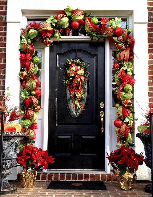 It S A Deco Mesh Christmas Christmas Door Decorations Christmas Garland Outdoor Christmas Decorations