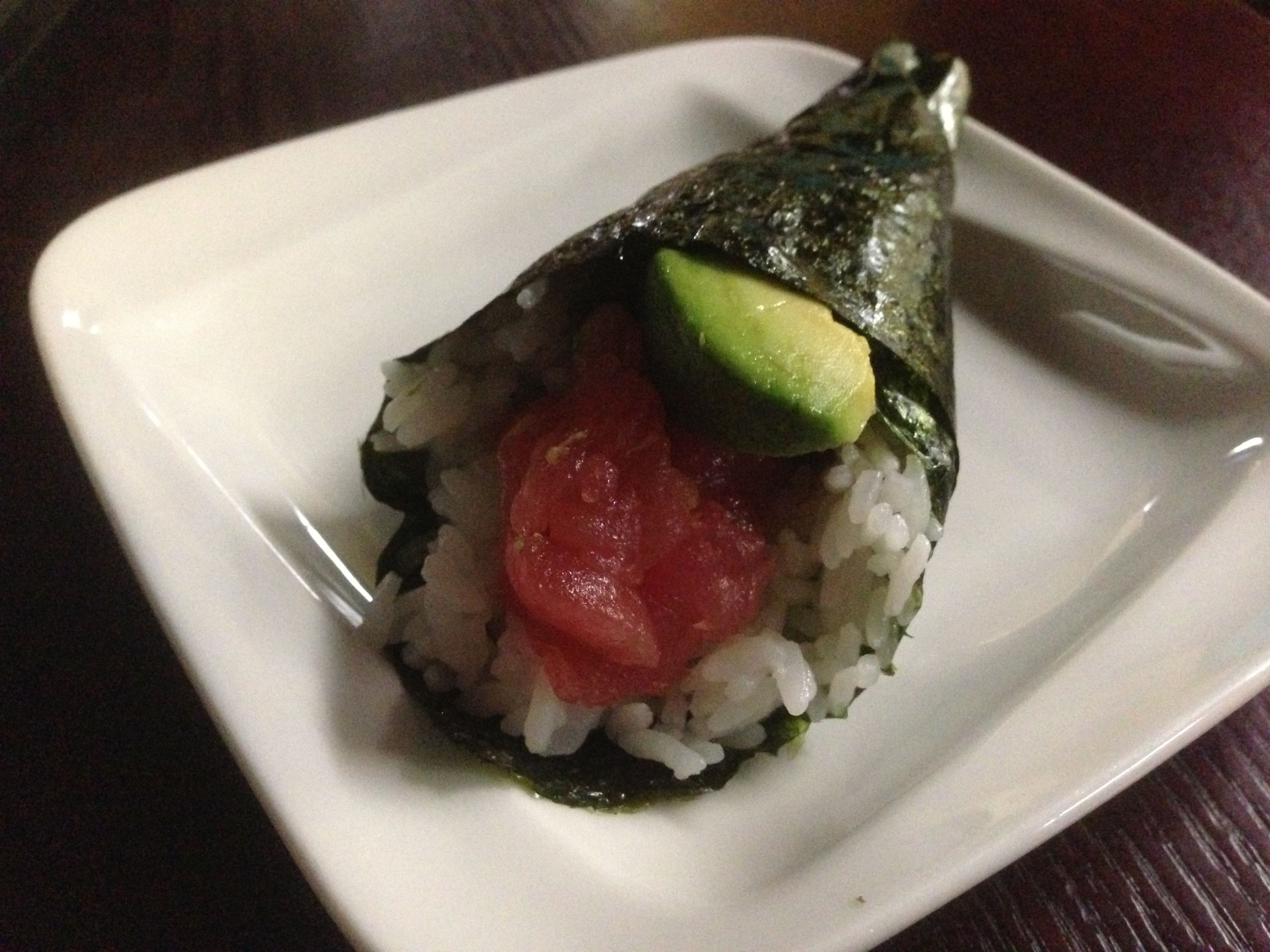 Magnificent Tuna And Avocado Hand Roll From Teaneck Sushi Buffet In Download Free Architecture Designs Embacsunscenecom