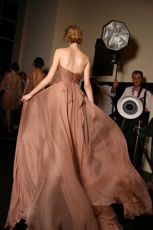 #Elie Saab fall 2011 couture backstage  Chiffon Skirt  #2dayslook #ChiffonSkirt  #sasssjane #anoukblokker  www.2dayslook.com