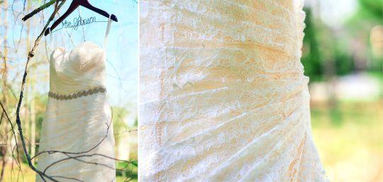 Outdoor wedding dress shot  |  Lauryn Reifinger Photography