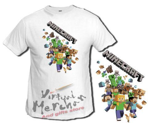 Camiseta MINECRAFT PERSONAJES LOGO tshirt t-shirt talla mujer xxl niño chica | eBay