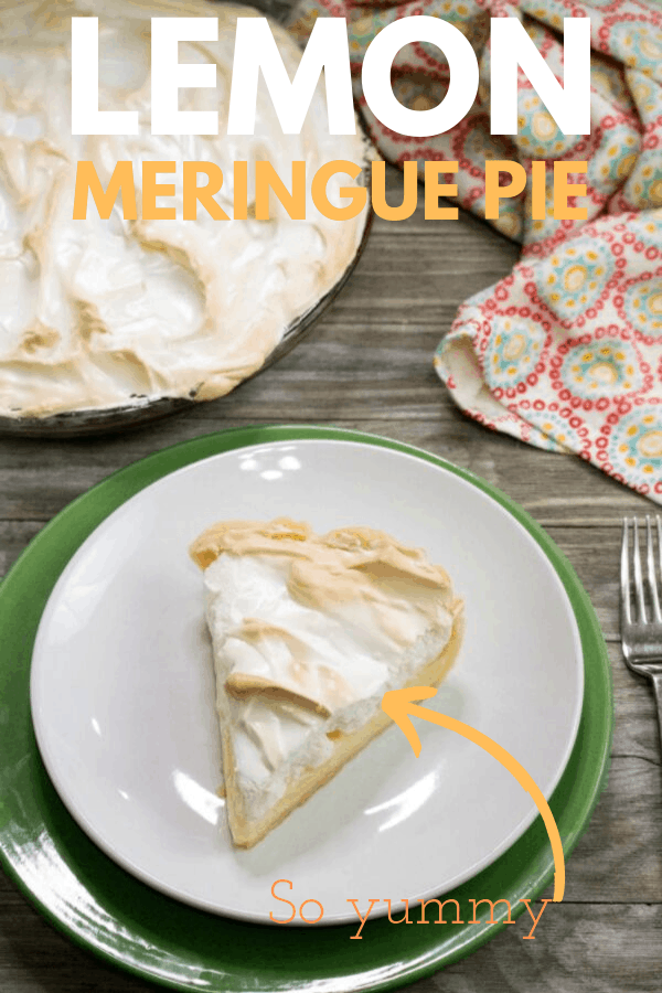 Cream Pie with Meringue is so easy to make. Simple ingredients, little prep and one tasty lemon pie to slice and serve up guests.