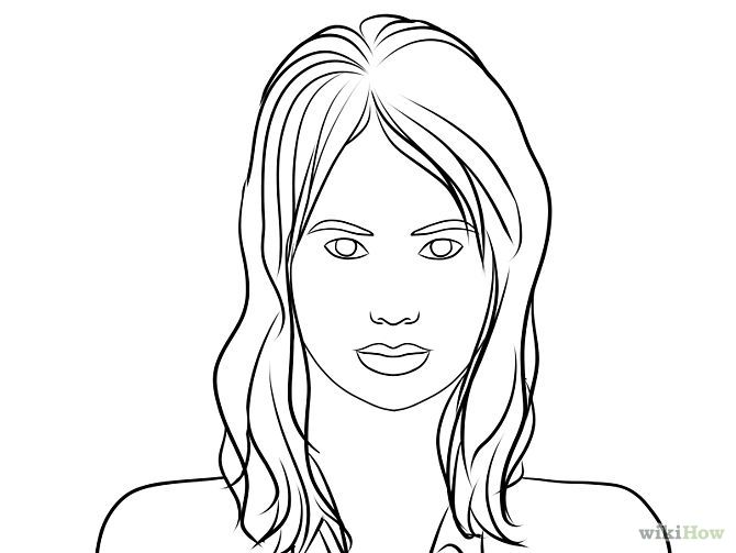 Line Drawing Human Face : Draw a portrait portraits drawings and drawing faces