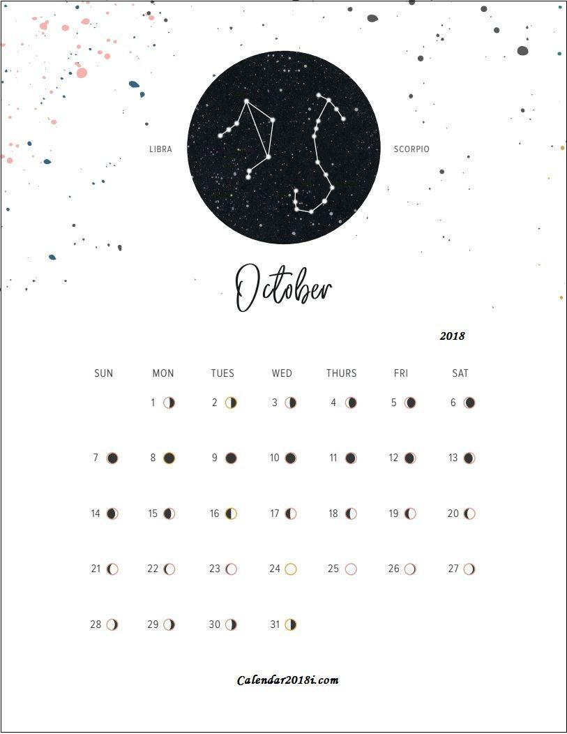 Moon Calendar October 2018 Full Moon Phases Calendar Moon