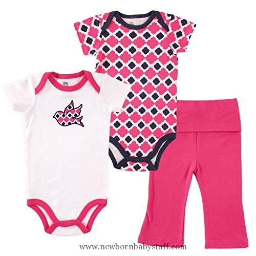 Baby Girl Clothes Yoga Sprout Baby Girls 3 Piece 2 Bodysuits And