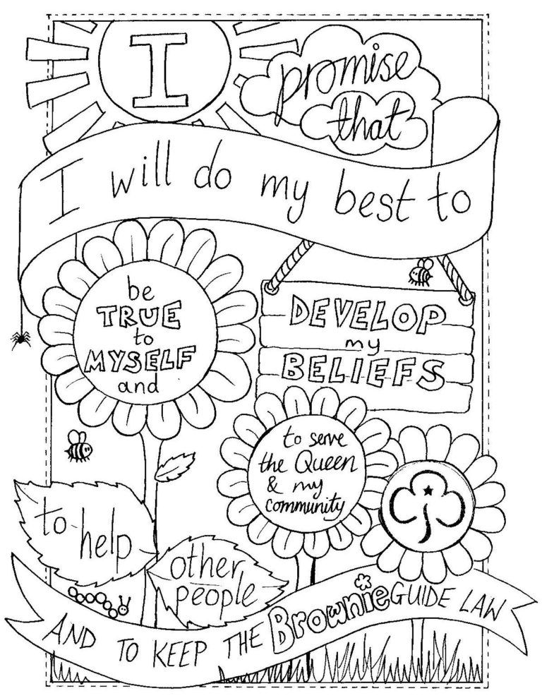 Brownie Coloring Pages Printable Girl Scouts Brownie Girl Scouts