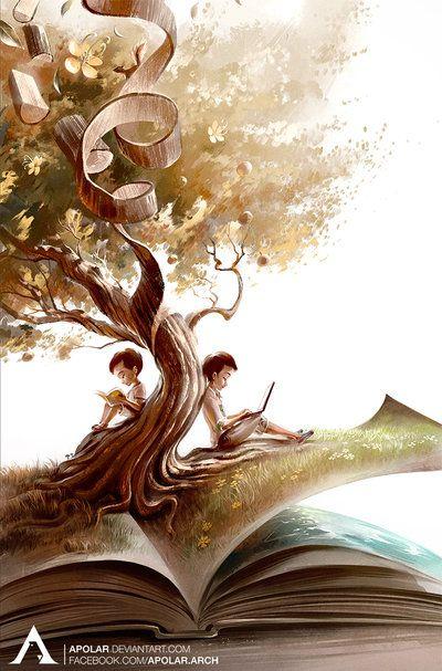 LIFE by Apolar on DeviantArt LOVE THIS!!!! | Reading art, Book art, Fantasy  art