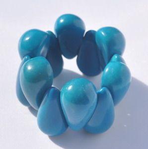 Tagua eco-drop bracelet $36