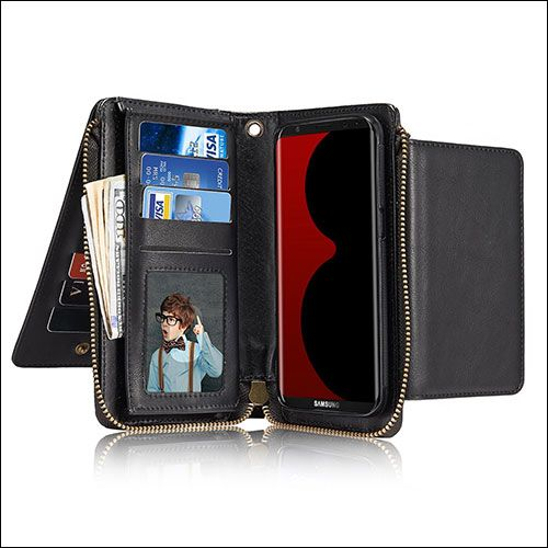 #JGOO Galaxy S8 Wallet Cases - Looking for best #GalaxyS8 #WalletCase? Take a look on this collection of protective #samsunggalaxys8  #cardholder #cases.  https://www.indabaa.com/best-samsung-galaxy-s8-wallet-cases/