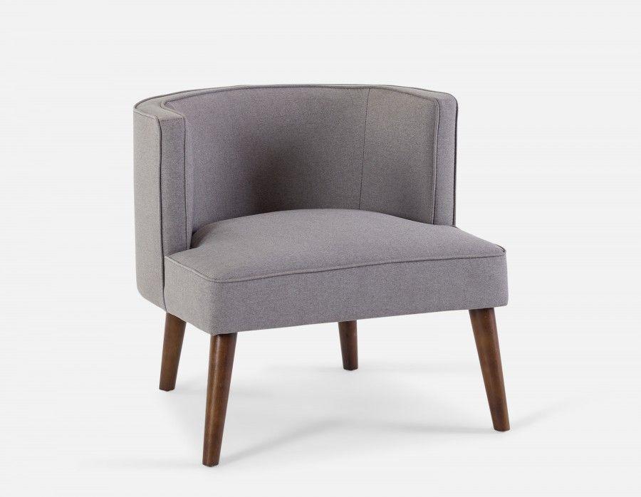 Best Edwin Armchair Light Grey Fabric Rocking Chairs 400 x 300