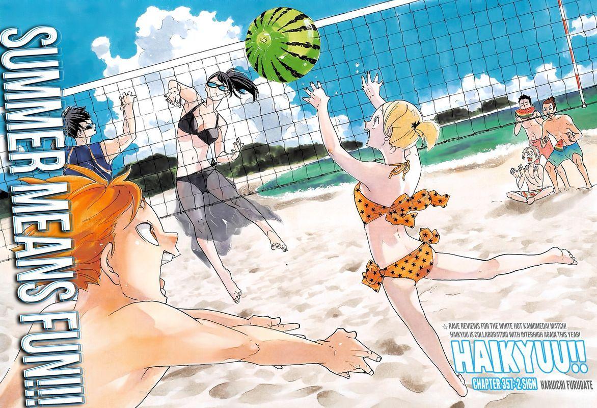 Haikyu Chapter 357 2 Sign Haikyuu Anime Haikyuu Haikyuu Manga