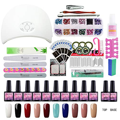 Saint Acior Gel Nail Polish Starter Kit With 36w Led Uv Nail Dryer Curing Lamp Best Offer Luxclout Com Gel Nail Polish Set Gel Polish Nail Art Nail Kit