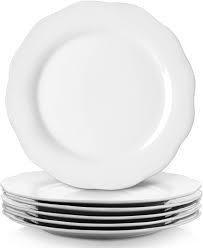 Amazon Com Y Yhy Dinner Plate Set 10 6 Thanksgiving Plates Porcelain Dinner Plate Set Of 6 White Serving Plate Show Plates Plates Christmas Dinner Plates