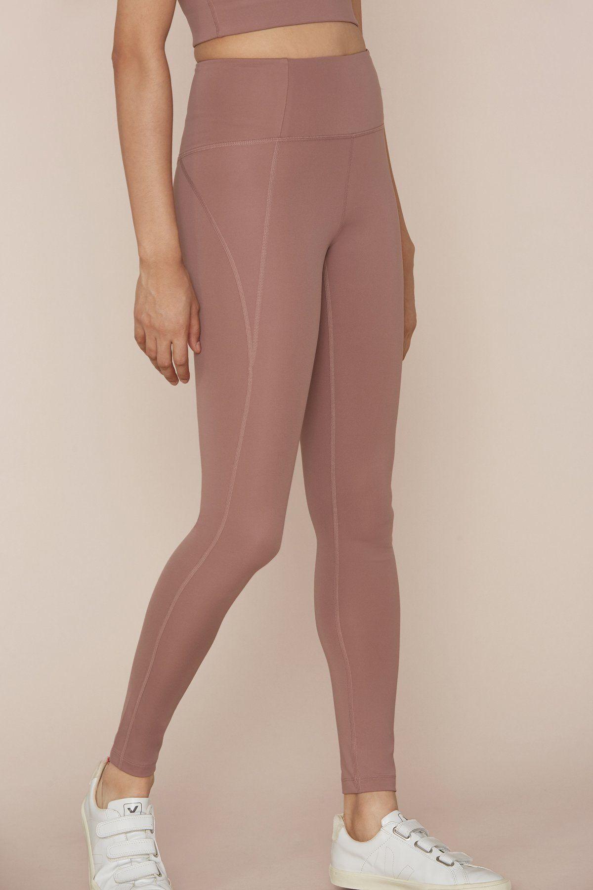 8ec04afc9bc023 Rose Quartz Compressive High-Rise Legging - 23 3/4 | Pilates & Yoga ...
