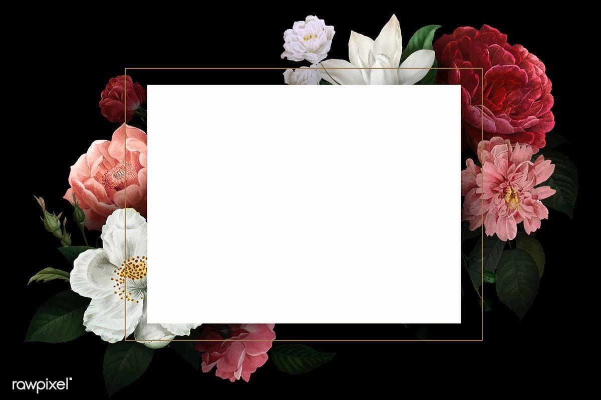 Beautiful Hand Drawn Colorful Roses Invitation Card Vector Free
